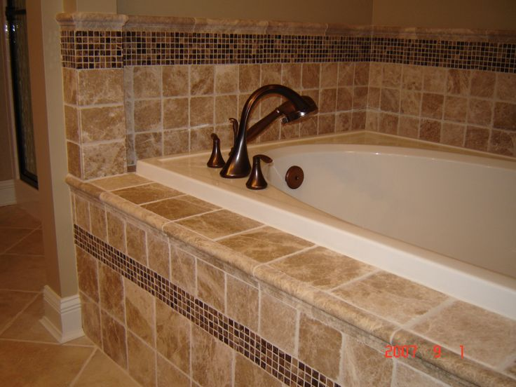 17 best images about tile bathroom countertop on pinterest for Master bathroom countertops