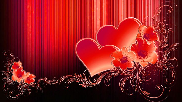 Valentine Hearts Free High Quality Wallpaper #7747 Love Wallpaper ...