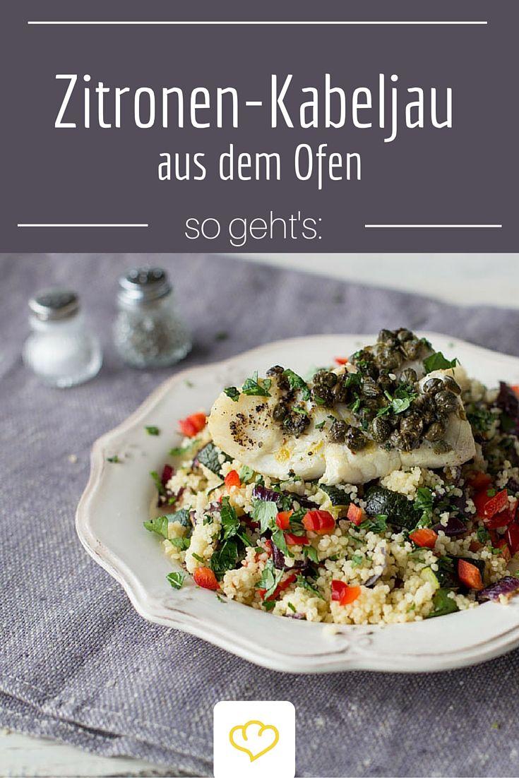 Leicht und Lecker: Kabeljau aus dem Ofen auf Couscous Salat