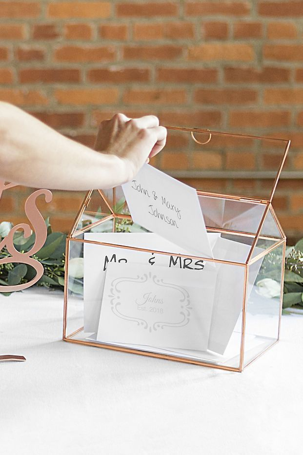 This Gorgeous Card Holder Would Look Beautiful On Any Welcome Table