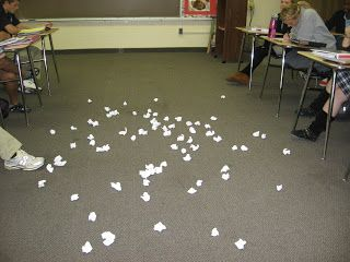 "Fun Review/Vocab Game I play this with my hs students all the time. I call it a ""Snowball Fight."" They LOVE it!"