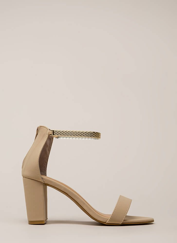 8fc3935976 Eye Of The Panther Chain Chunky Heels in 2019 | Things to Wear ...