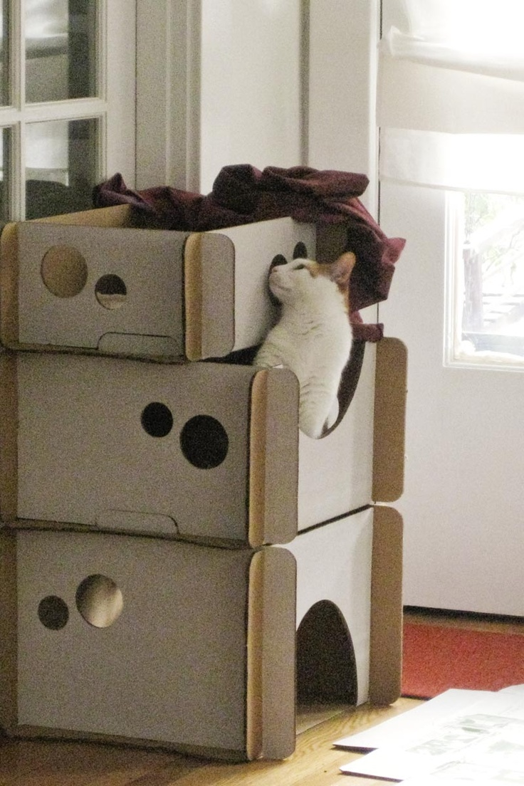 best cool cat condos images on pinterest  cats animals and  - how well does this support chunky kitties