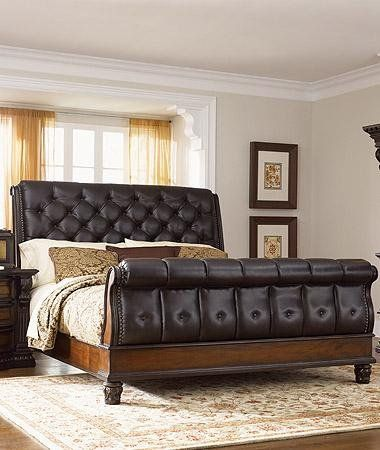 Fairmont Designs Grand Estates 3 Piece Set Eastern King Sleigh Bed Dresser Mirror Fairmont