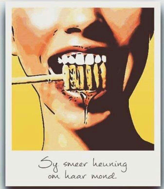Smeer heuning aan haar mond