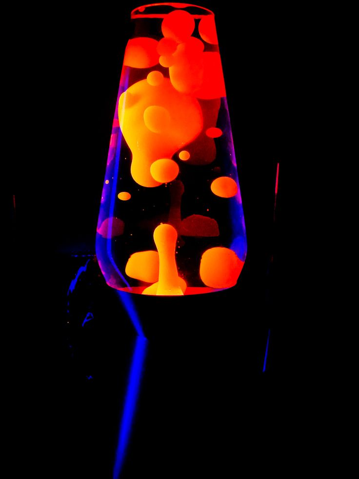 Oozing Orange Goo Lava Lamp