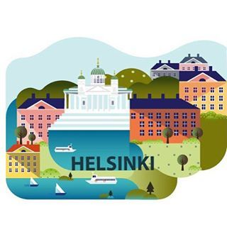 A new illustration for the Illustrated Map of Finland -project!! HELSINKI is a capital of Finland, a small city of 630 225 thousand inhabitants! This vibrant center of Southern Finland is a host for multiple culture and music festivals every year. Citys location near sea and it's archipelago makes it a especially beautiful in the summer time! #visithelsinki, #helsinkiofficial, #travel, #infographic, #mapillustration, #maaritkotiranta_illustration, #maps, #city, #urban, #illustationartist…