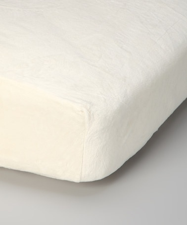 Take a look at this Cream Chenille Bed Sheet by One Step Ahead Apparel on @zulily today!