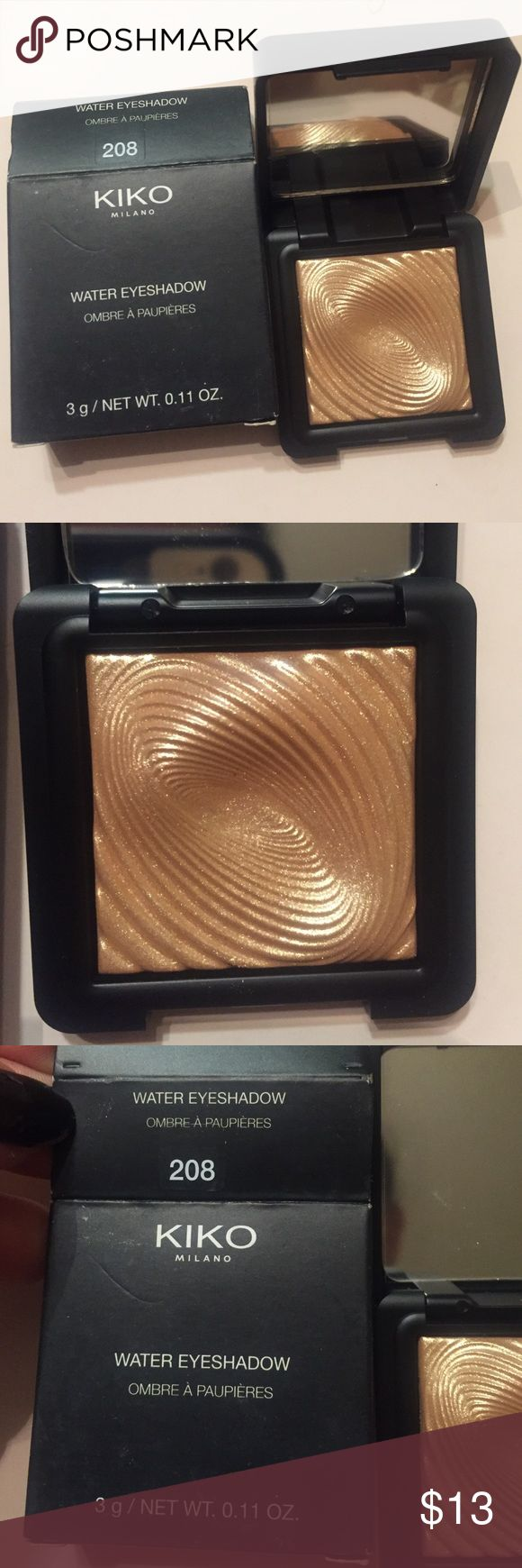 Kiko 208 highlight Brand new never used!! Always authoring purchased from Kiko store nj. Can be highlight or eyeshadow. Perfect dupe for Mac whisper of  guilt. no trades/holds. I only sell on posh kiko Makeup Luminizer