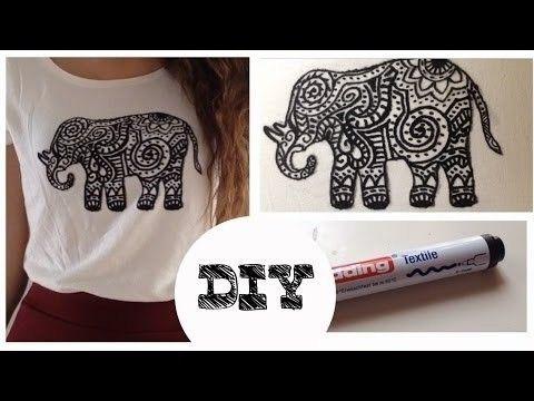 Idea DIY para decorar un playera o blusa un poco vieja :3