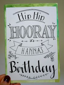 Birthday card - handlettering