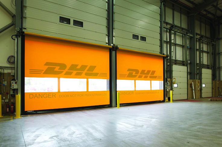Effective. DHL branded shutters.