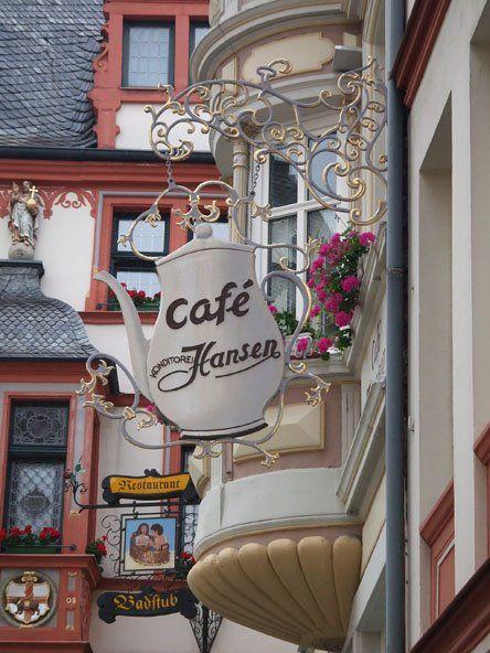 European cafe sign