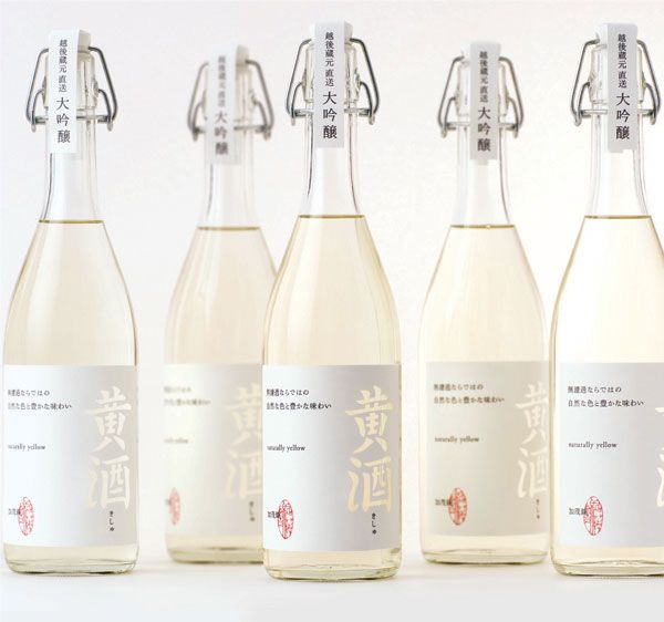 Japanese liquer. This white label makes the bottle to look sophisticated and it is also a very clean design.