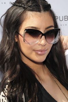kim kardashian hair | Kim Kardashian Balenciaga Sunglasses
