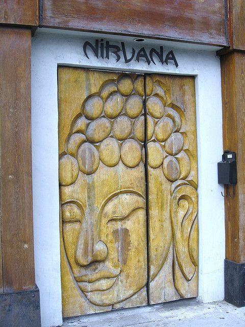 Nirvana Restaurant Wooden Door Beverly Hills, California