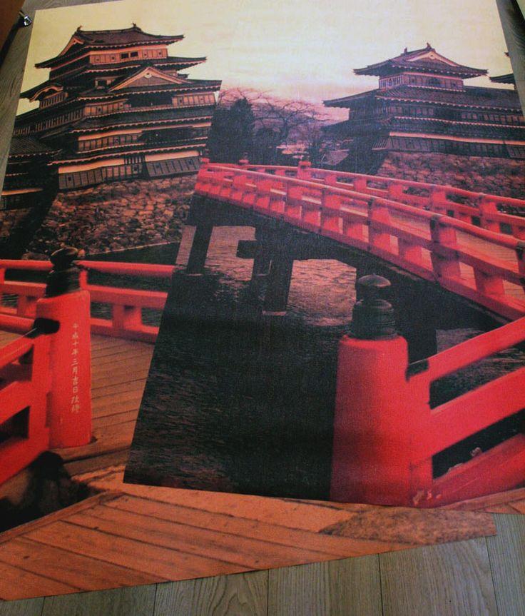 Печать фотообоев с замком средневековой Японии