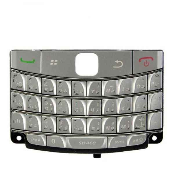 BlackBerry Bold 9700 9020 Onyx Arabic Keypad Keyboard - Silver