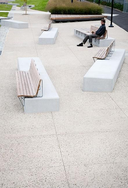 Benches at West Harlem Pier Park, New York City. Click image for link to full profile and visit the slowottawa.ca boards >> http://www.pinterest.com/slowottawa/boards/