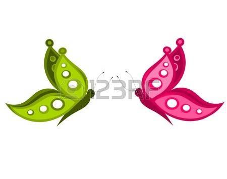 farfalla rosa: Coppia di farfalle estate - illustrazione vettoriale Vettoriali