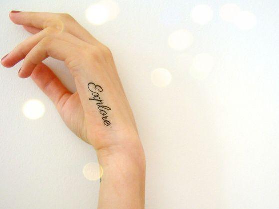 La saison des #tattoos #éphémères va commencer ! Qui aurez-vous dans (sur) la peau ? Sur DaWanda.com