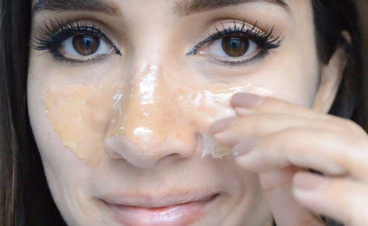 "Aprenda a preparar uma máscara caseira de gelatina muito power para eliminar os cravos e que promete ""arrancar até a alma""!"