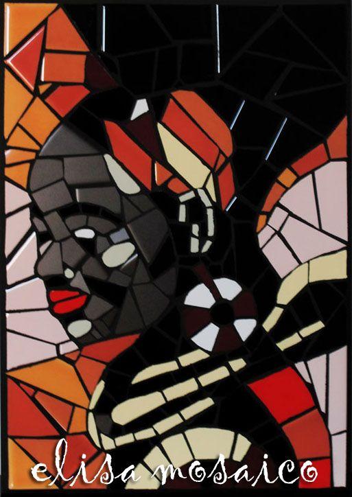 """""""AFRICANA""""  Quadro mosaico di piastrelle"""