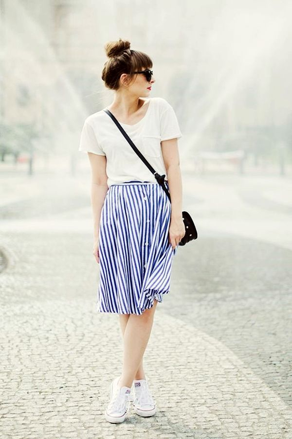 Trending Striped Skirt Outfits For 2016 - (16)