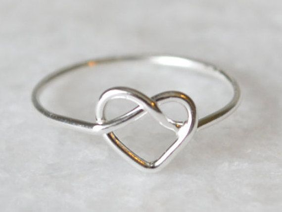 Sterling Silver Heart Pretzel Ring by ShopZYLA