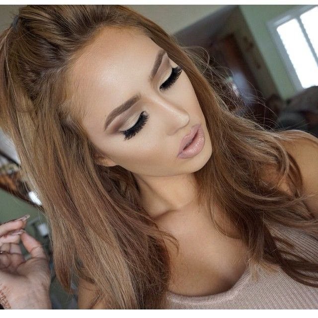 @brittanybearmakeup - Soft glam ! Eyes: @morphebrushes (35t ) pallet Brows: @anastasiabeverlyhills brow wiz ( caramel ) Lashes: @kokolashes Lips: @doseofcolors ( stone ) with clear gloss Foundation : Nars luminous weightless ( Syracuse ) Contour/ Highlight ( @anastasiabeverlyhills light cream contour ) Hair: @bellamihair ash brown use code ( brittanybear ) and get money off your set !