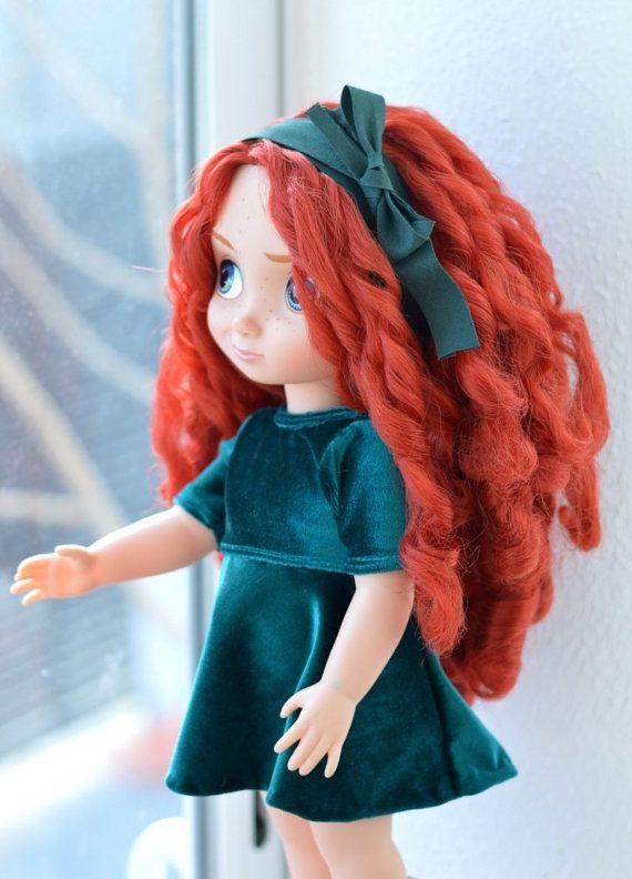 Memories of Merida Velvet Dress for Disney Animator doll 16 inch por LittleBigBoutique