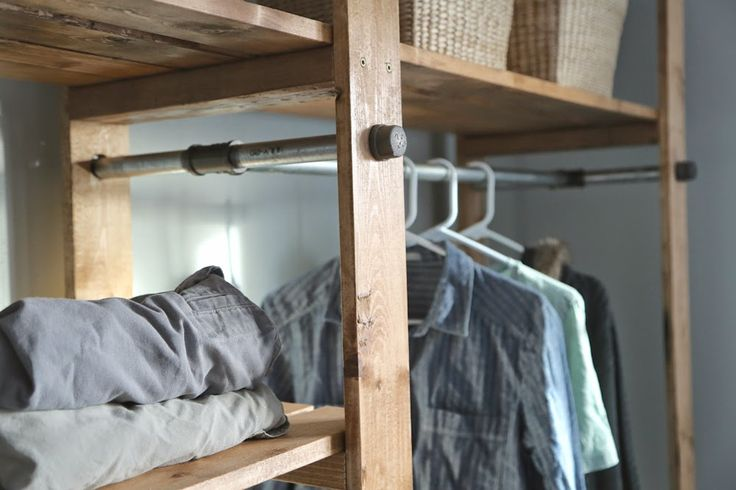 Ana White Build A Industrial Style Wood Slat Closet