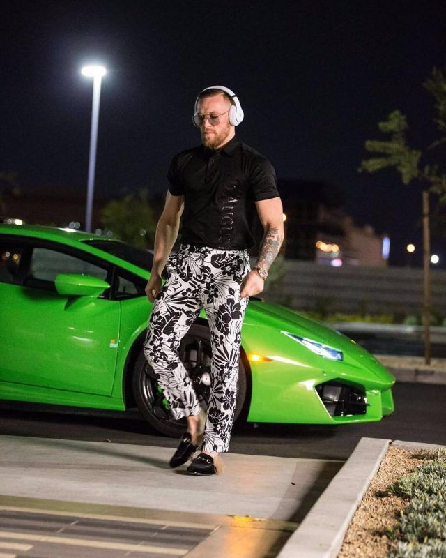 Conor McGregor Wears Collaborative David August Shirt, Pants and Gucci Loafers  |  UpscaleHype