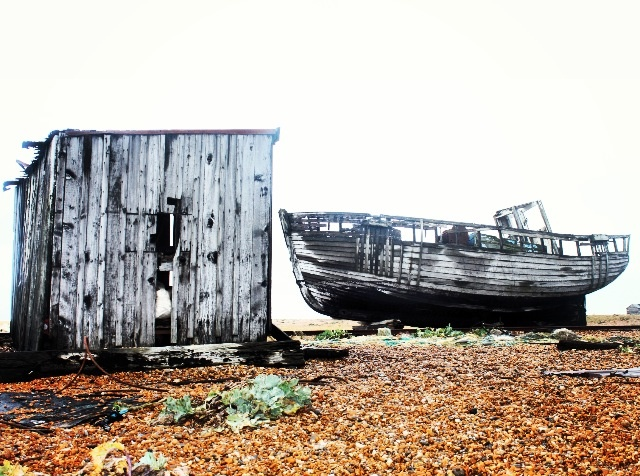 Abandoned Wreck, Dungeness.