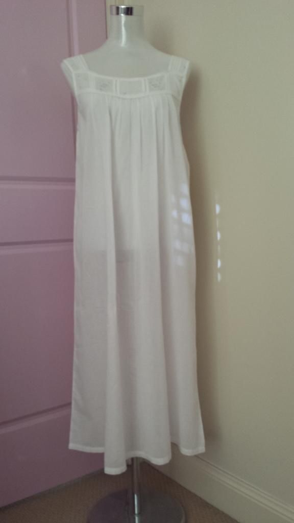 2add7e576f French Country Strappy Cotton Voile Nightie FCF123V