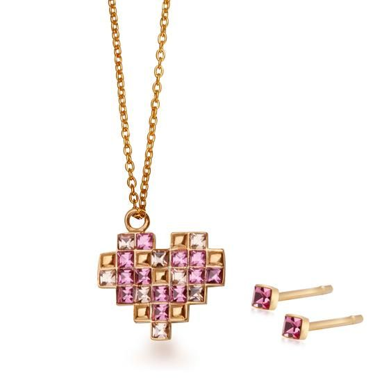 Komplet Walentynkowy YES Love Collection, 169 PLN.  www.YES.pl/55494-komplet-walentynkowy-yes-love-collection-AB-S-000-ZLO-ANCL3153 #jewellery #buyonline #heart #love #YESforRomance #perfect #shop #freedelivery #Poland #BizuteriaYES