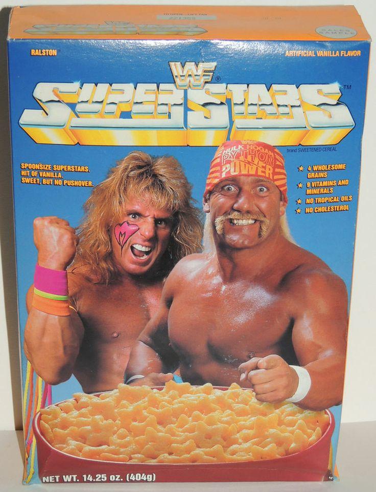 UNOPENED 1991 WWF WWE CEREAL BOX Ultimate WARRIOR & Hulk ...