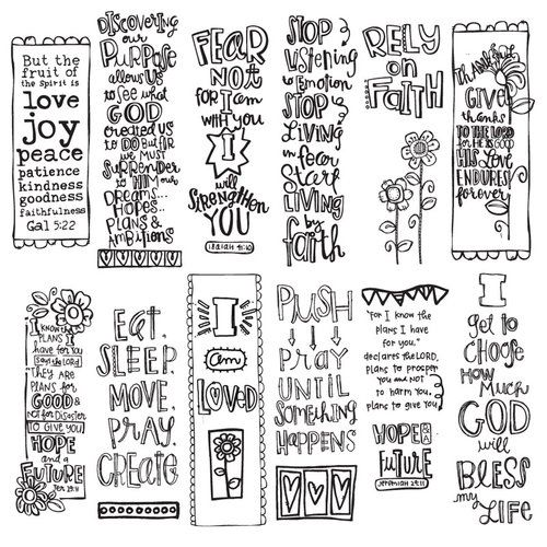 180 Best Bible Journaling Bookmarks Images On Pinterest