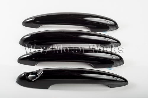R60 Countryman Black Door Handle Cover 4 piece set. If you don't like the chrome exterior door handles on your MINI Countryman this is the coolest solution around. These Countryman black door handle overlays are a perfect fit over the chrome. These Black exterior door handle covers are held in place by a tight fit and high grade 3M automotive grade adhesive tape. <...