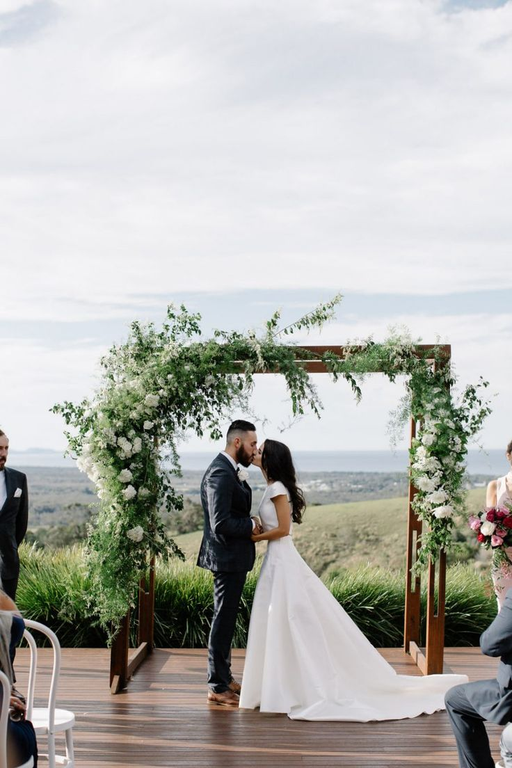 Horizon Byron Bay wedding - photography by Lucas & Co #greenery #wedding #arbor