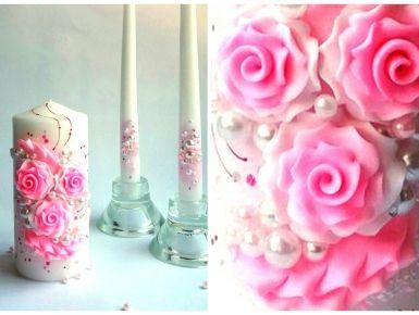 Набор свечей С-107 (розовый)