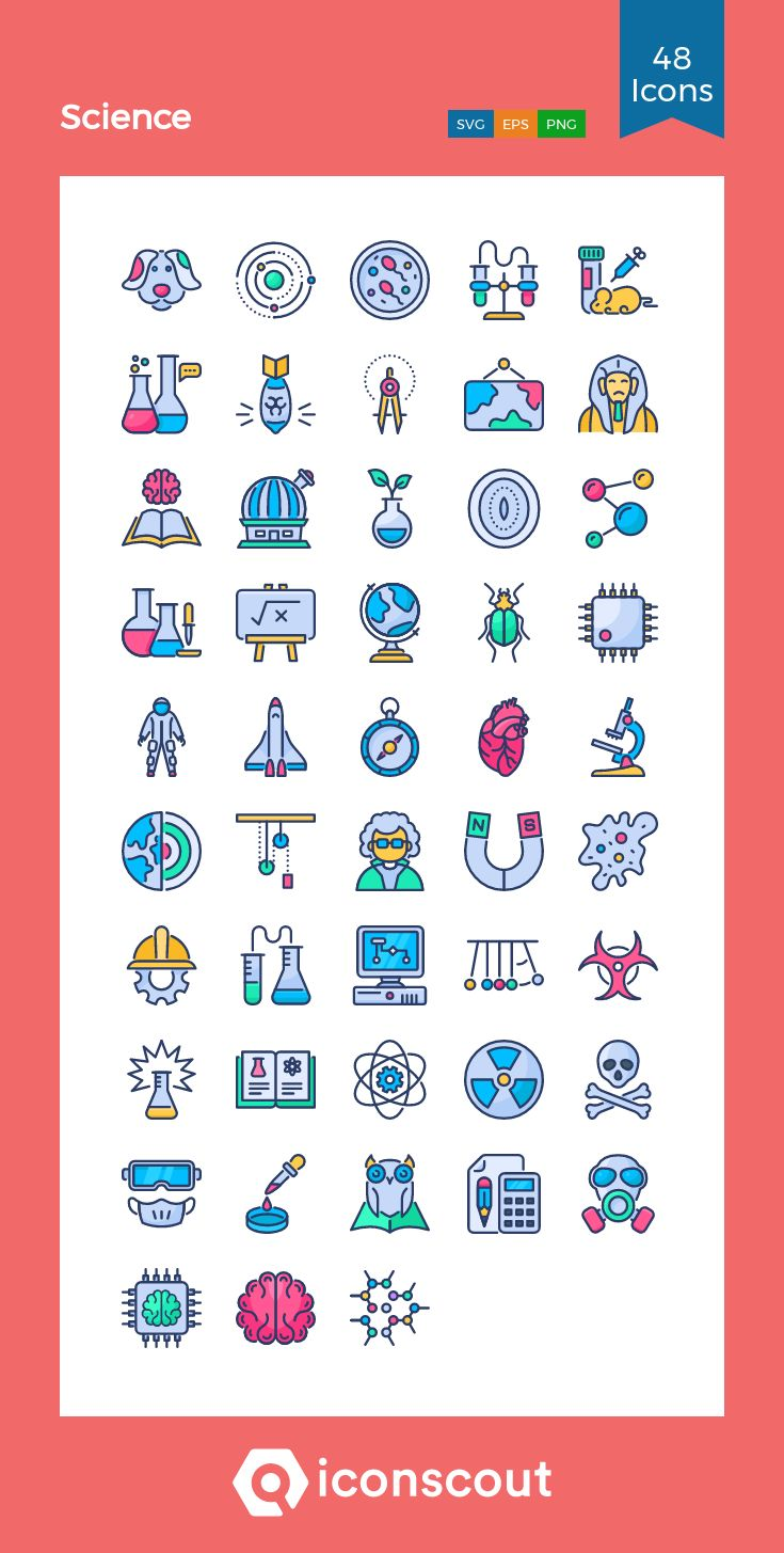 Download Science Icon pack Available in SVG, PNG, EPS