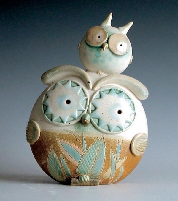 """""""Civetta doppia grande / Big double owl"""" Ceramiche sonore / Sonorous ceramics"""