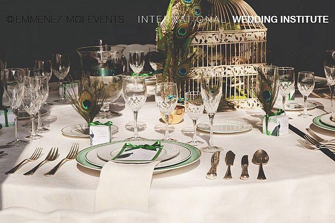 Peacock Feathers Wedding - Mariage plumes de paon | International Wedding Institute