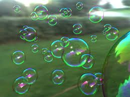 Homemade Bubbles:  1 C warm water, 1 T glycerin or light corn syrup, 3 T liquid dishsoap (joy works well).  For best results, let the solution sit overnight.