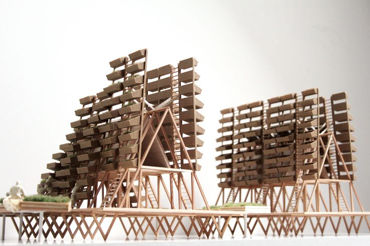 Tonlé Sap - Floating Farms - Architectural model by Hamish Angus McAndrew