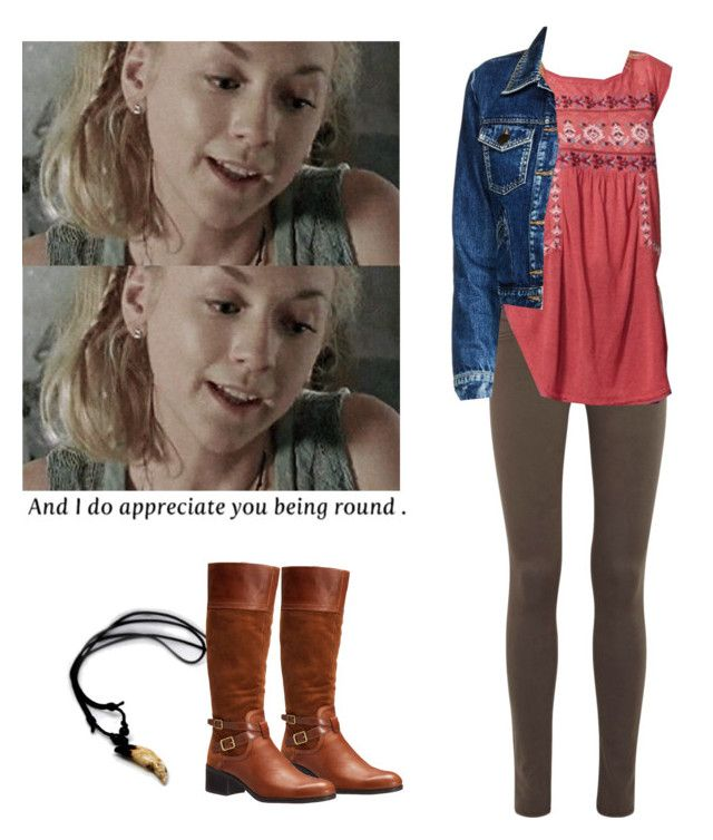 """""""Beth Greene outfit for chilly weather - twd / the walkig dead"""" by shadyannon ❤ liked on Polyvore featuring Franco Sarto, rag & bone and Maje"""