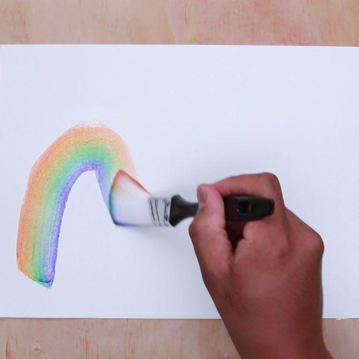 Rainbow Heart Watercolor Painting In 2020 Herz Malen