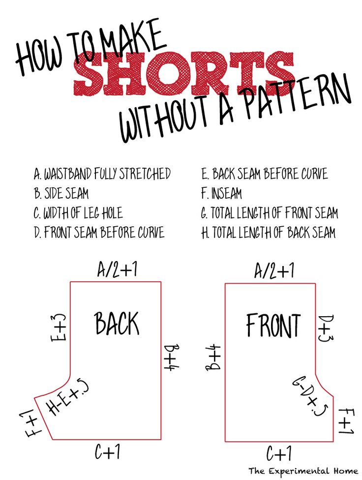 make shorts pattern
