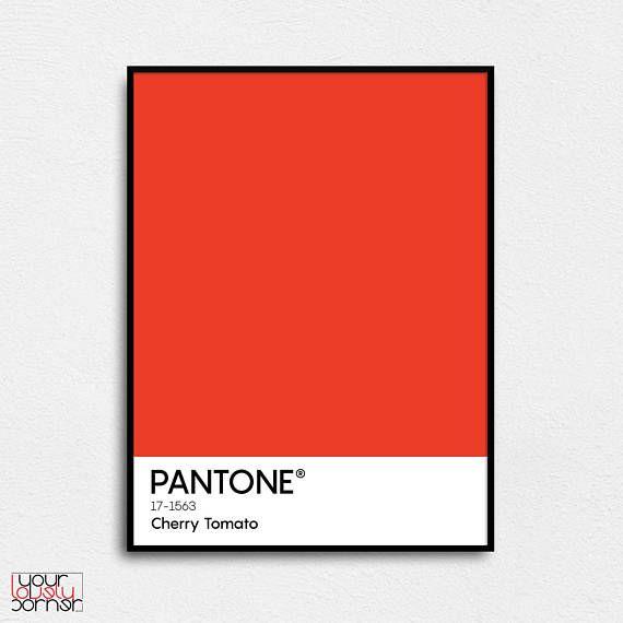Pantone Cherry Tomato Pantone print Pantone poster Pantone